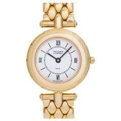 Van Cleef & Arpels Classic 437973 18 Karat White Dial Quartz Watch
