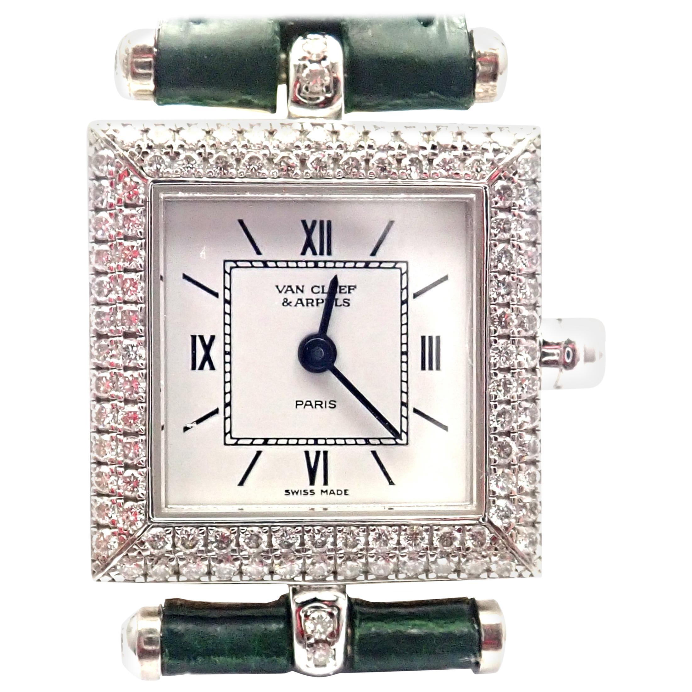 Van Cleef & Arpels Classique Diamond White Gold Watch