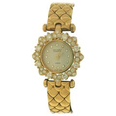 Van Cleef & Arpels Classique Yellow Gold & Diamond Bracelet Ladies Watch 130955