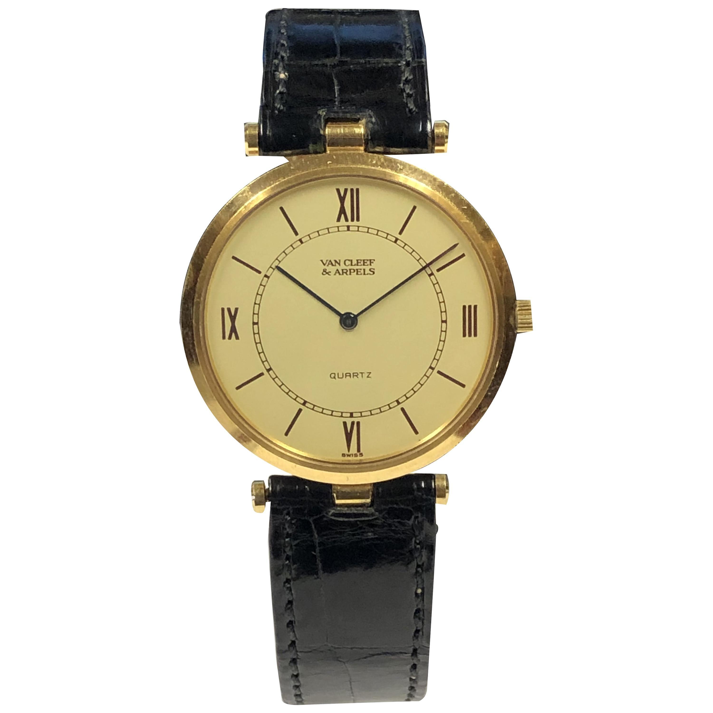 Van Cleef & Arpels Classique Yellow Gold Quartz Wristwatch