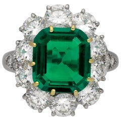 Van Cleef & Arpels Colombian Emerald and Diamond Ring, American, circa 1980