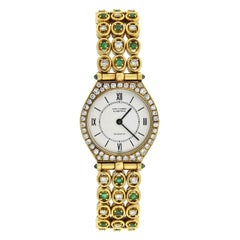 Van Cleef & Arpels Contemporary Diamond and Emerald Ladies Watch