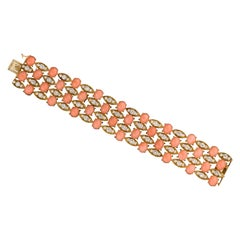 Van Cleef & Arpels Coral and Diamond Bracelet