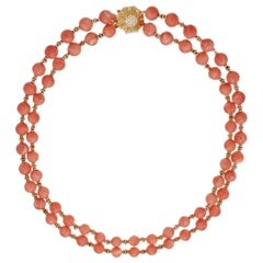 Van Cleef & Arpels Coral Bead Necklace