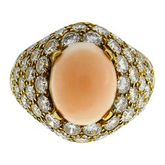 Van Cleef & Arpels Coral Diamond Yellow Gold Ring