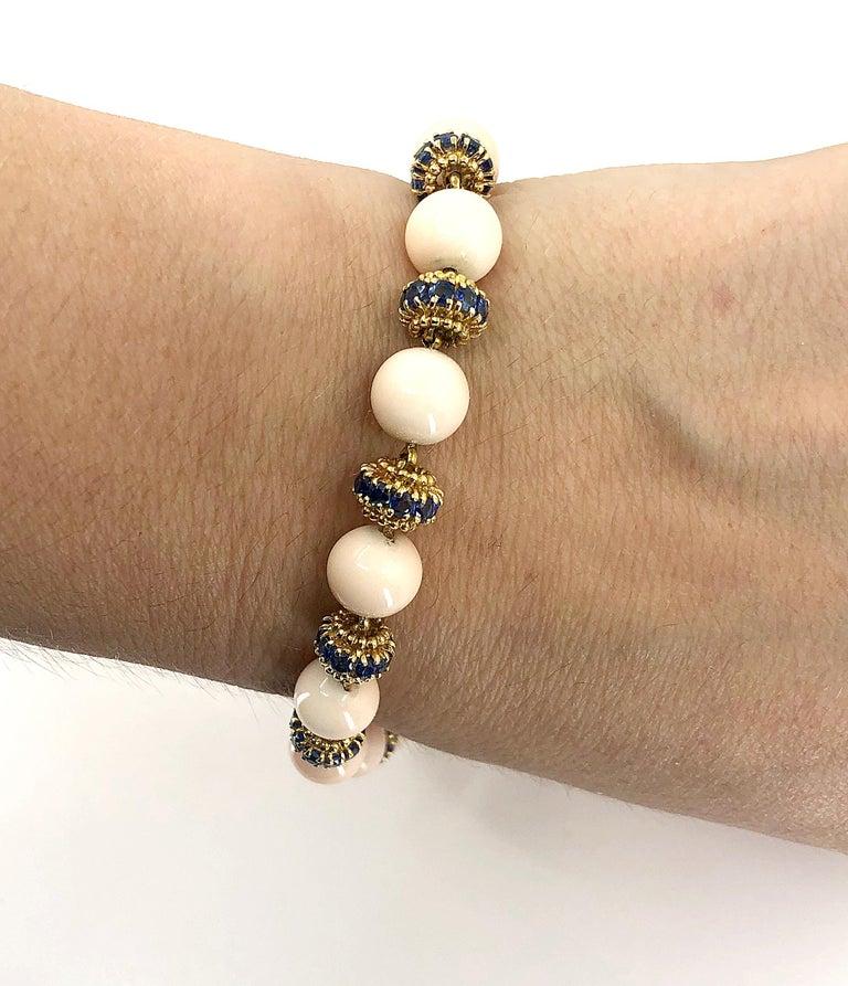 Women's Van Cleef & Arpels Coral, Sapphire Necklace or Bracelet For Sale