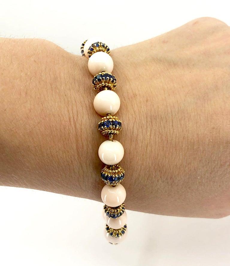 Van Cleef & Arpels Coral, Sapphire Necklace or Bracelet For Sale 1