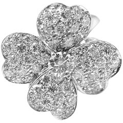 Van Cleef & Arpels Cosmos Diamond Medium Model White Gold Ring