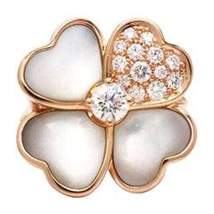 Van Cleef & Arpels 'Cosmos' Rose Gold, Mother of Pearl, Diamond Ring