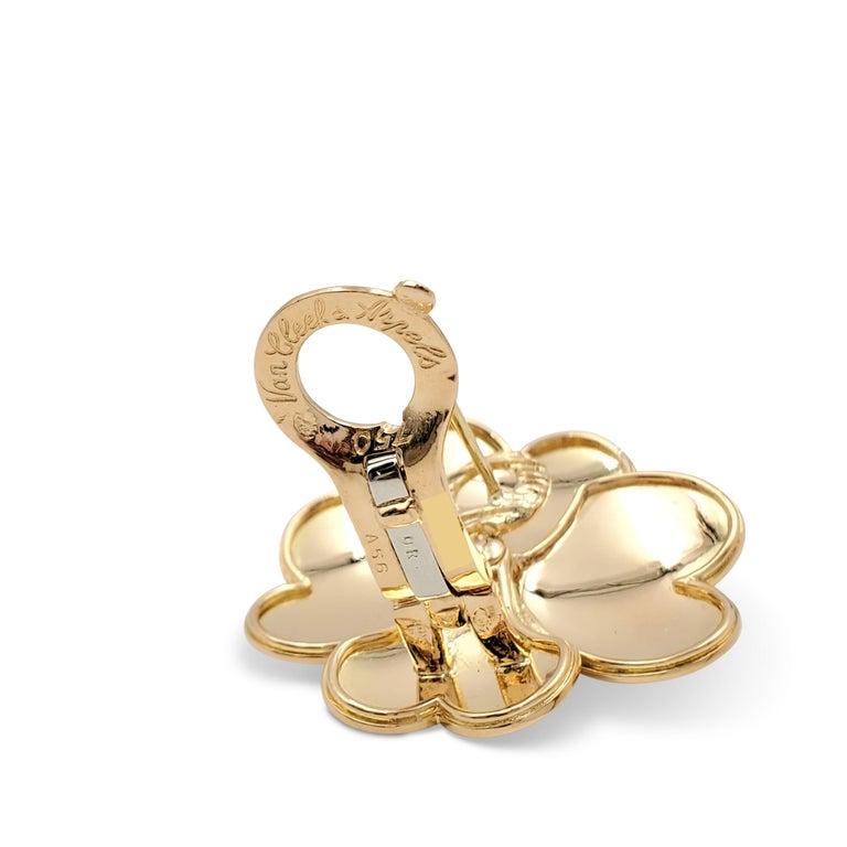 Women's Van Cleef & Arpels 'Cosmos' Yellow Gold and Diamond Earrings