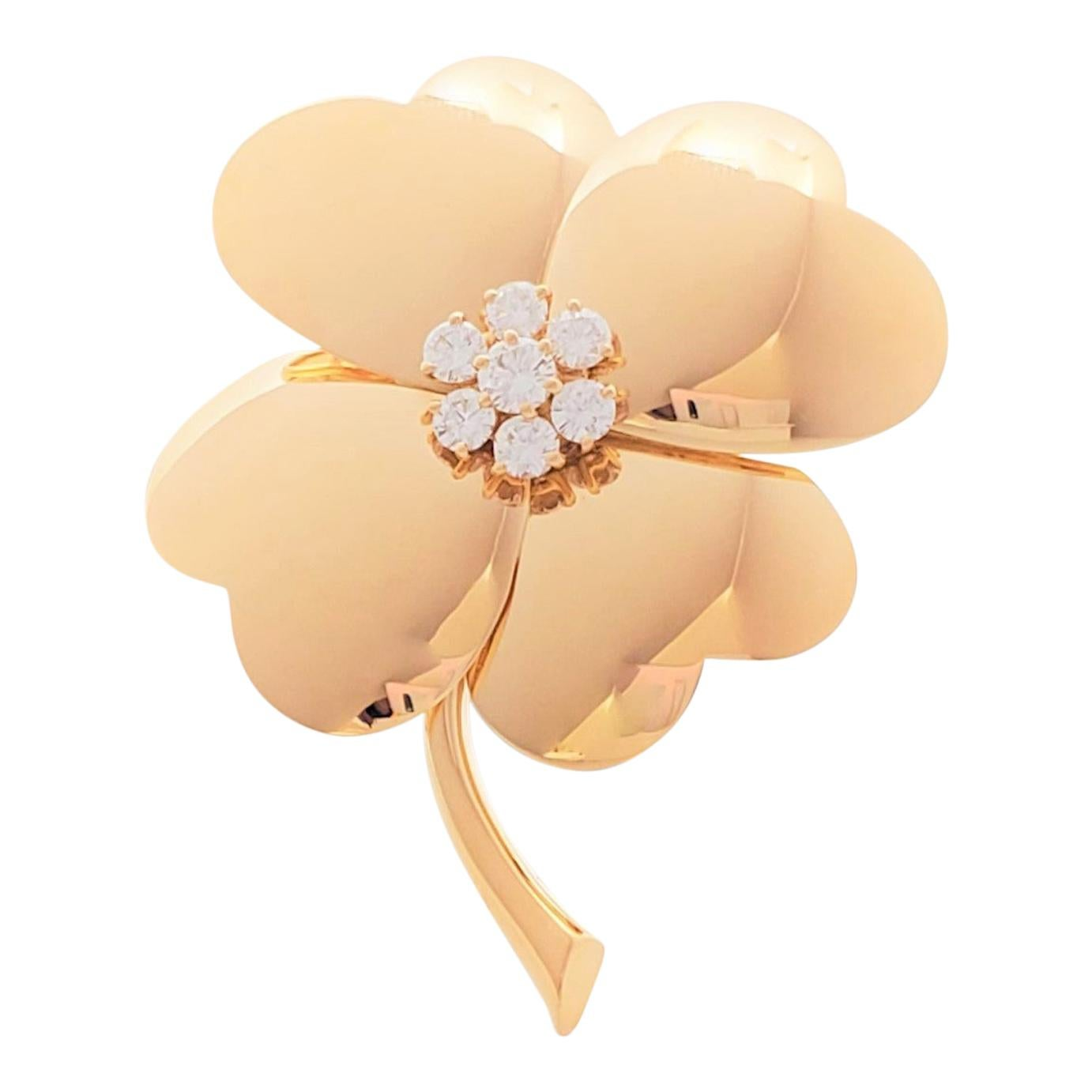 Van Cleef & Arpels 'Cosmos' Yellow Gold and Diamond Pin