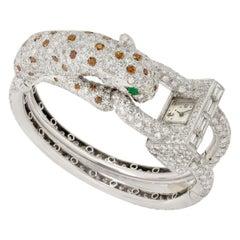 Van Cleef & Arpels, David Webb Unique Leopard Diamond Watch