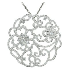 Van Cleef & Arpels Dentelle Diamond White Gold Neckalce