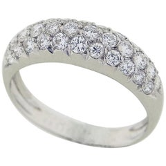 Van Cleef & Arpels Diamond 0.75 Carat 18 Karat White Gold Eve Paved Ring