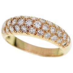 Van Cleef & Arpels Diamond 18 Karat Pink Gold Pave Ring
