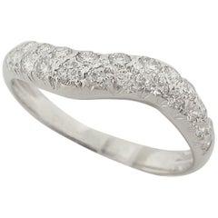 Van Cleef & Arpels Diamond 18 Karat White Gold Ring