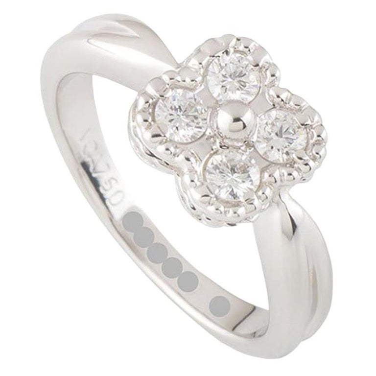 Van Cleef & Arpels Diamond Alhambra Ring For Sale