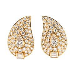 Van Cleef & Arpels Diamond and 18k Gold Ear Clips