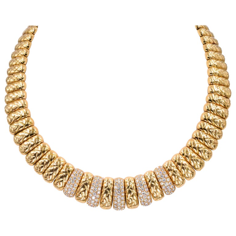 Van Cleef & Arpels Diamond and Gold Necklace For Sale