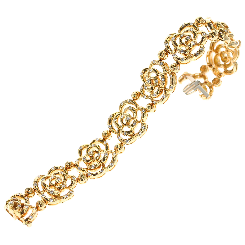 Van Cleef & Arpels Diamond and Gold Openwork Bracelet