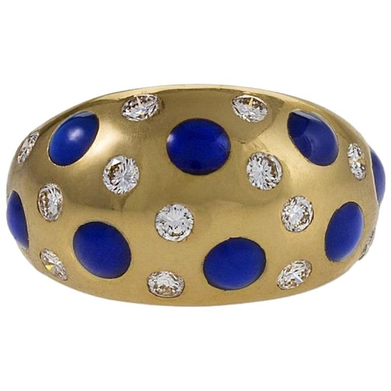Van Cleef & Arpels Diamond and Sapphire Ring For Sale