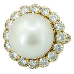 Van Cleef & Arpels Diamond and South Sea Pearl Ring