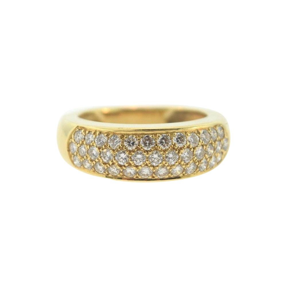 Van Cleef & Arpels Diamond and Yellow Gold Dome Band Ring