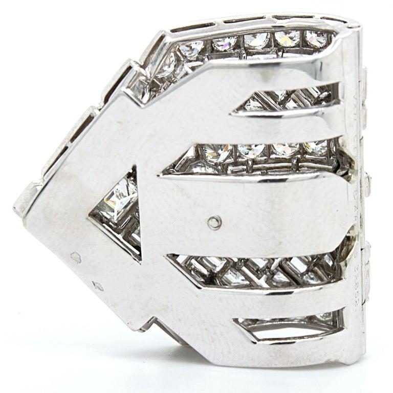 Van Cleef & Arpels Diamond Art Deco Clip, France, ca. 1920s For Sale 6