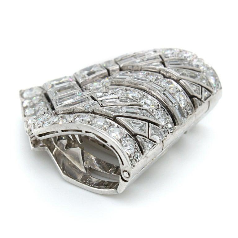 Van Cleef & Arpels Diamond Art Deco Clip, France, ca. 1920s For Sale 2