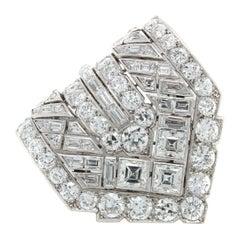 Van Cleef & Arpels Diamond Art Deco Clip, France, ca. 1920s