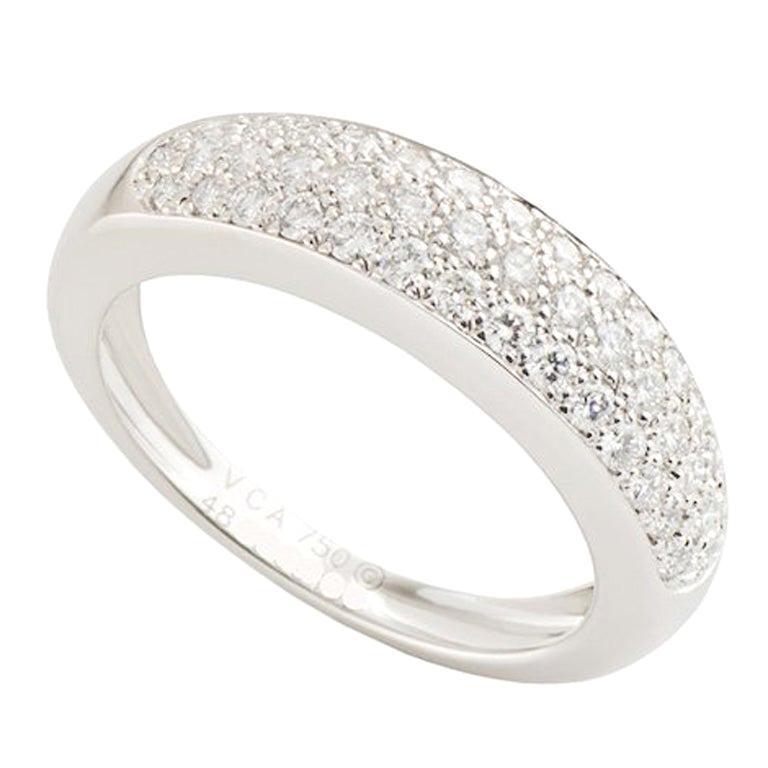 Van Cleef & Arpels Diamond Band Ring .56 Carat