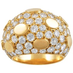 Van Cleef & Arpels Diamond Bombe Sequin Ring