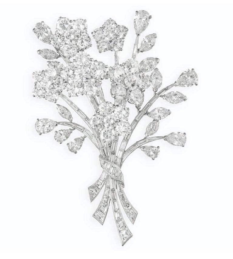 Artist Van Cleef & Arpels Diamond Bouquet Brooch For Sale