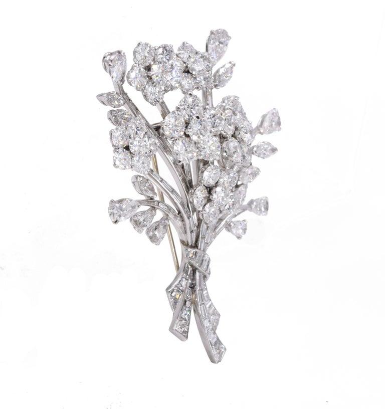 Women's Van Cleef & Arpels Diamond Bouquet Brooch For Sale