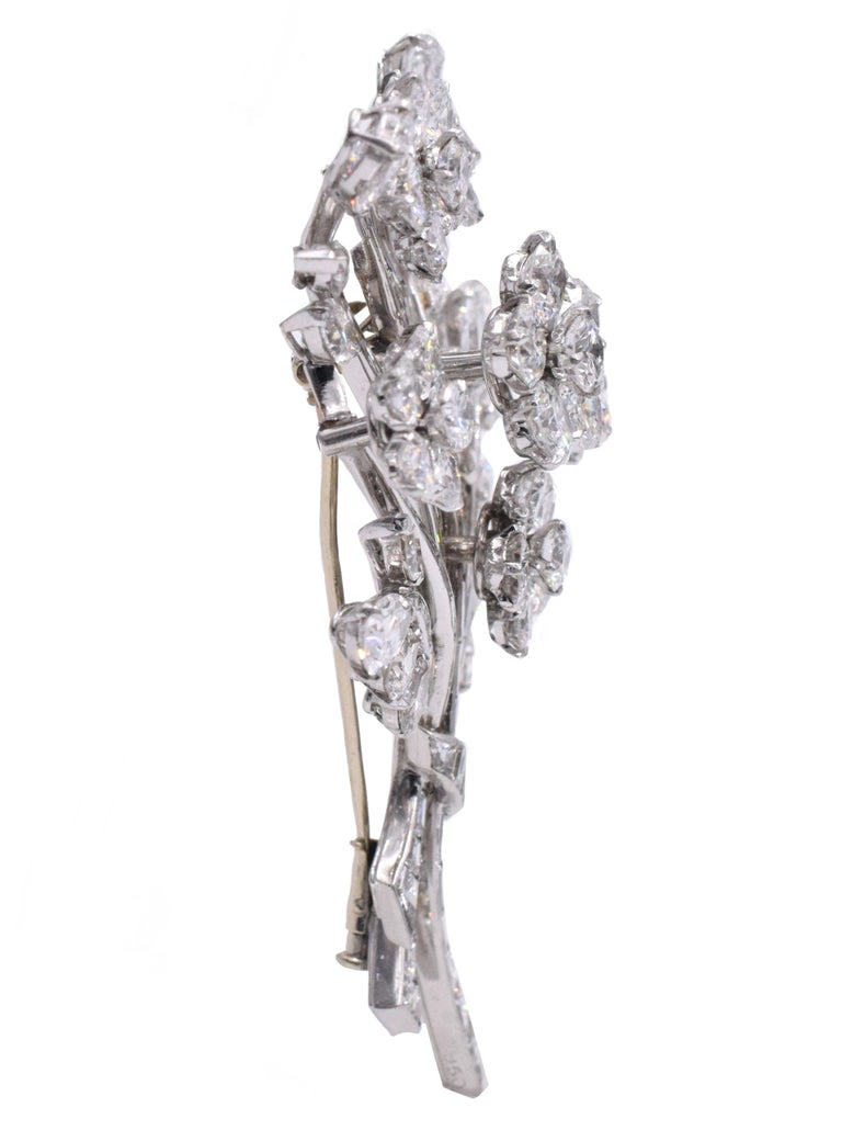 Van Cleef & Arpels Diamond Bouquet Brooch For Sale 1
