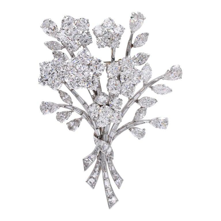Van Cleef & Arpels Diamond Bouquet Brooch For Sale