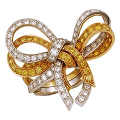 Van Cleef & Arpels Diamond Bow Ring
