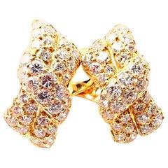 Van Cleef & Arpels Diamond Bow Yellow Gold Earrings