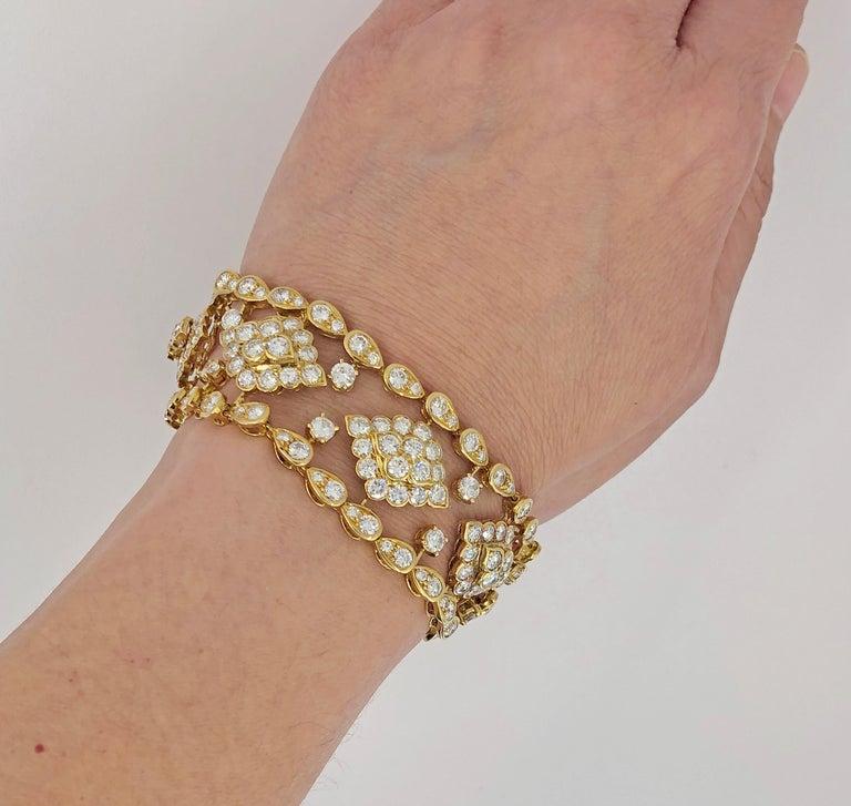 Van Cleef & Arpels Diamond Bracelet For Sale 4