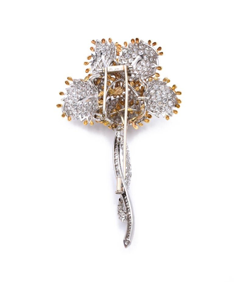Van Cleef & Arpels Diamond Brooch In Excellent Condition For Sale In New York, NY