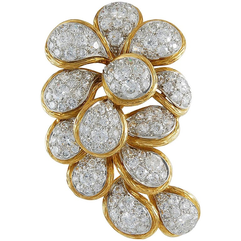 Van Cleef & Arpels Diamond Brooch For Sale