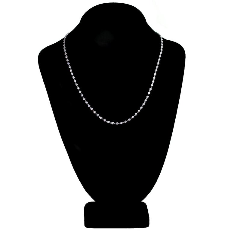 Van Cleef & Arpels Diamond by the Yard White Gold Necklace For Sale 1