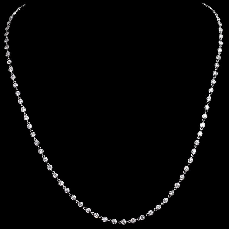 Van Cleef & Arpels Diamond by the Yard White Gold Necklace For Sale 2
