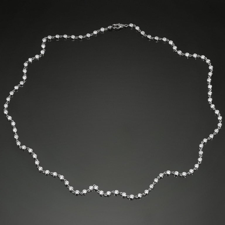 Van Cleef & Arpels Diamond by the Yard White Gold Necklace For Sale 3