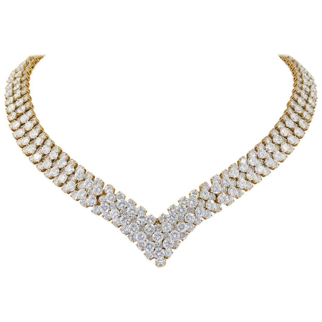Van Cleef & Arpels Diamond Cheval Necklace/Bracelet