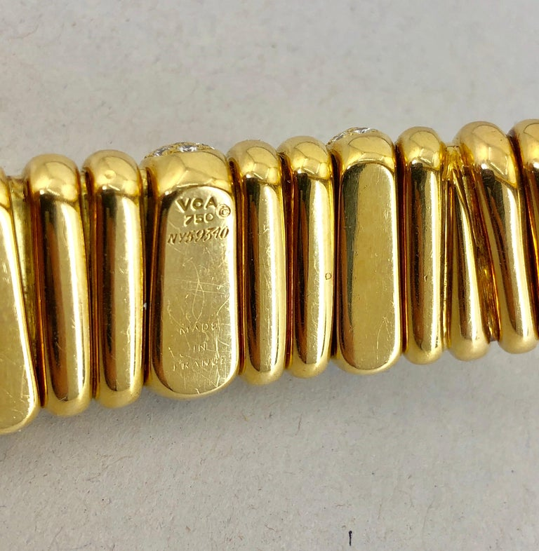 Women's Van Cleef & Arpels Diamond Choker Necklace For Sale