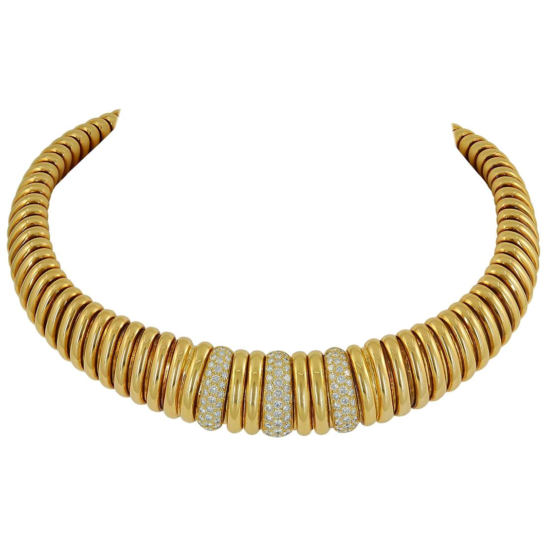 Van Cleef & Arpels Diamond Choker Necklace