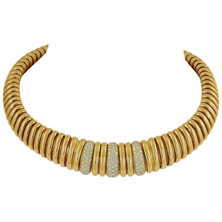 Van Cleef & Arpels Diamond Choker Necklace For Sale
