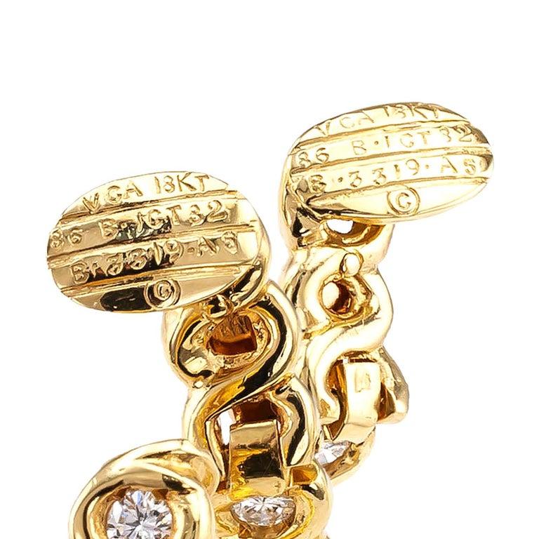 Van Cleef & Arpels Diamond Clip-On Hoop Earring  In Good Condition For Sale In Los Angeles, CA