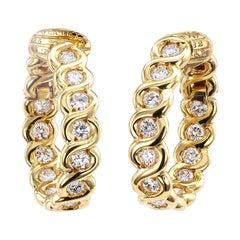 Van Cleef & Arpels Diamond Clip-On Earring Hoops